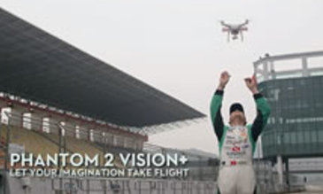 Phantom 2 Vision+ et courses automobiles