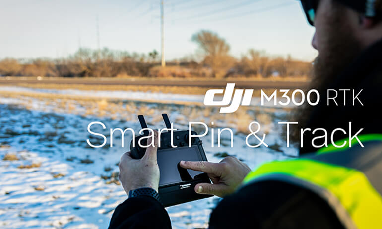 DJI- M300 RTK - How to Use the Smart Pin & Track Feature