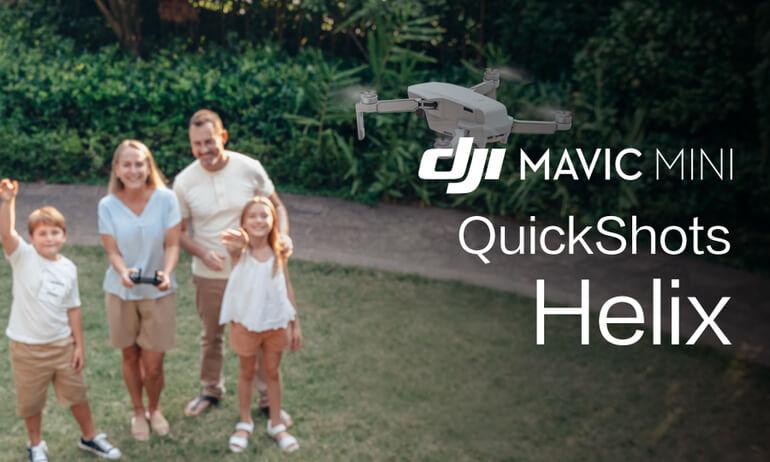 """Mavic Mini Tutorials - How To Perform A """"Helix"""" QuickShot"""