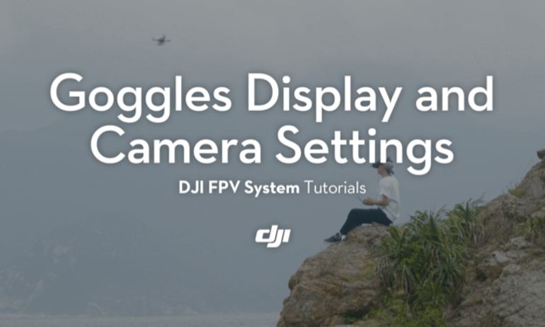 DJI Digital FPV System Tutorials – Goggles Display and Camera Settings