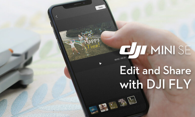 Edit and Share with DJI FLY