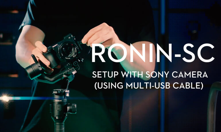 Setup with SONY Camera (Using Multi-USB Cable)