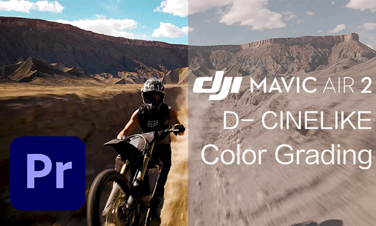 Mavic Air 2| D-Cinelike Footage Color Grading in Premiere PRO