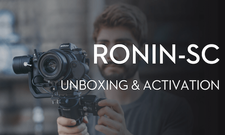 DJI - Ronin-SC -Unboxing and Activation