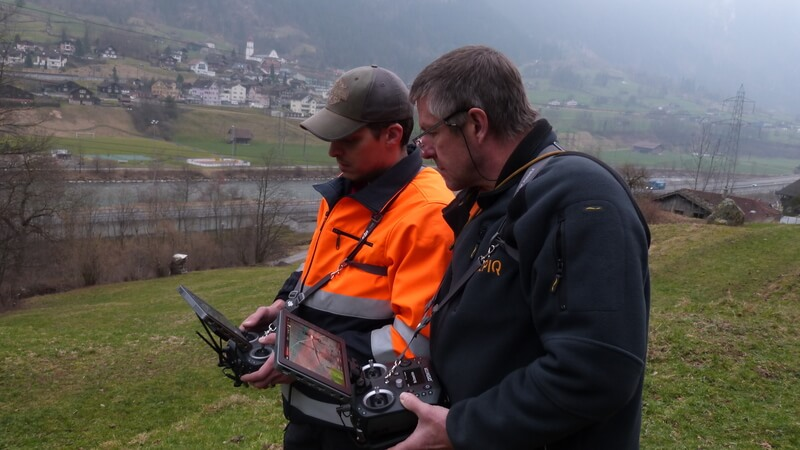 Alpiq EnerTrans uses two pilots for inspections alongside high voltage lines due internal security regulations