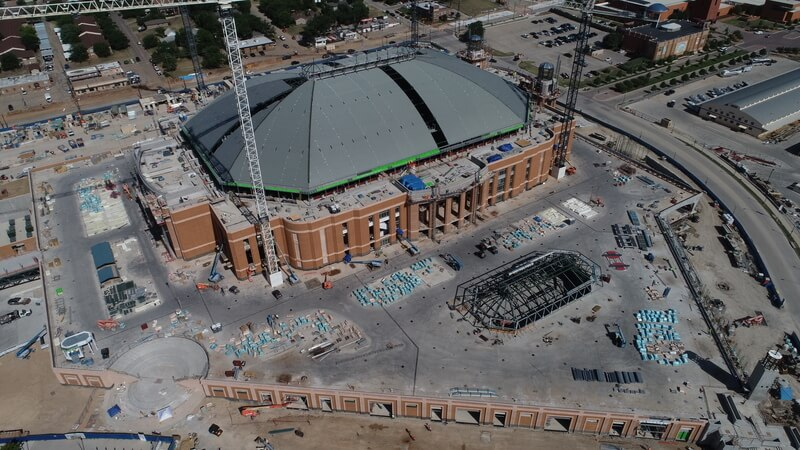 Drones Speed Up Construction For Fort Worth S New Landmark