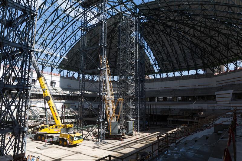 Dickies Arena interior