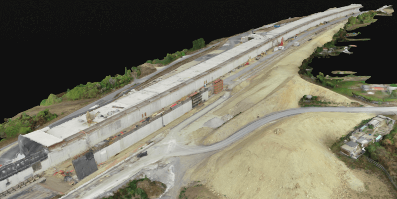 With drones, STRABAG is able to create more detailed 3D models in less time