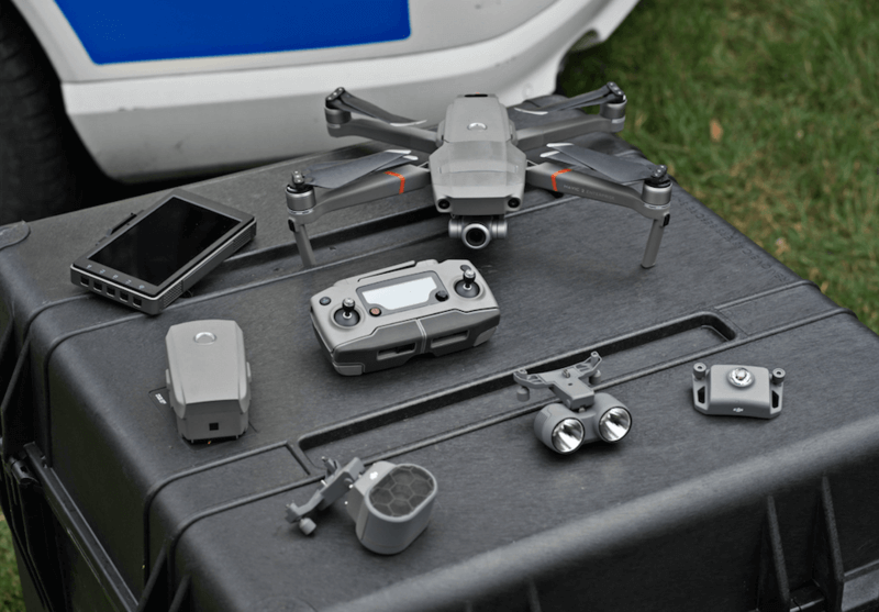 The attachable accessories change the way police work with drones