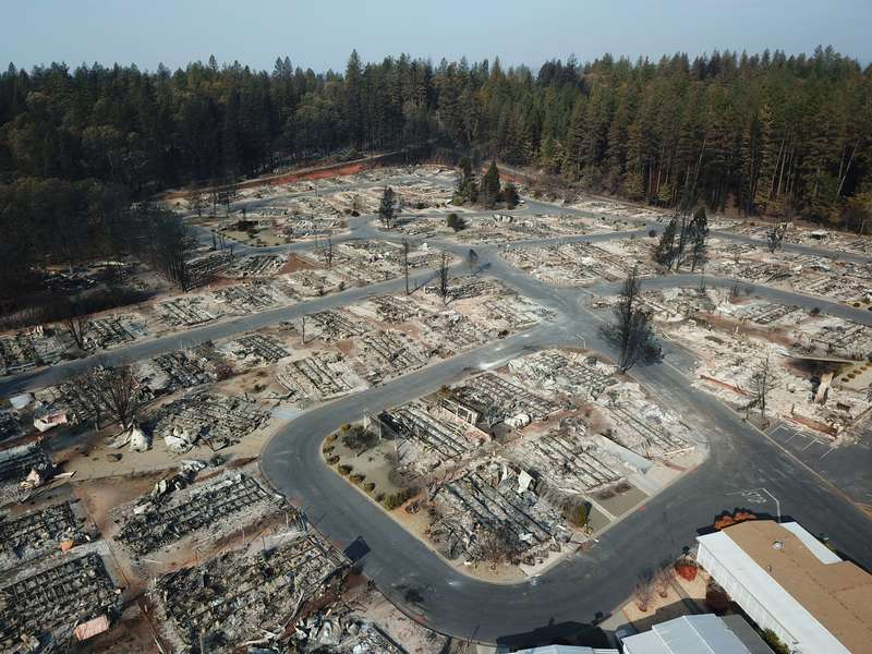 Mapping Camp Fire Disaster with Drones