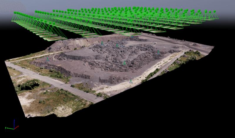 The digitized stockpile in Pix4Dmapper