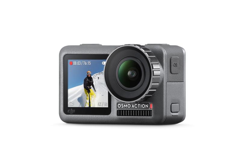 DJI OSMO Action 运动相机以独特前置彩屏瞄准vloger市场,支援裸机11米防水 2