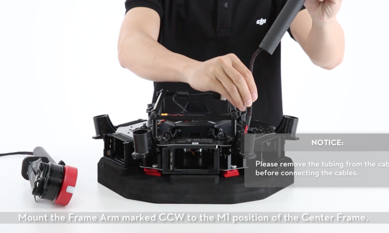 DJI Tutorial – M600: Unboxing and Installing the Frame Arm